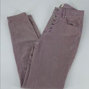 Free people corduroy high waisted pant. Size 26
